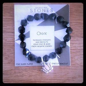 Jewelry - Genuine Stones Onyx Stretch Bracelet